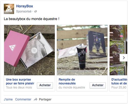 Les publicités multi-produit de Facebook